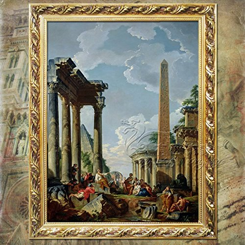 Patait Hd Spray Painting, World Famous Painting Bedroom, European Ruins, Building Entrance Decoration Painting,Horizontal 40 Height 50,The Default Set is 5 Kg Freight,Landscape Painting,Single Frame