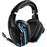 Logitech G935 Wireless DTS:X 7.1 Surround Sound LIGHTSYNC RGB PC Gaming Headset - Black, blue (Renewed)