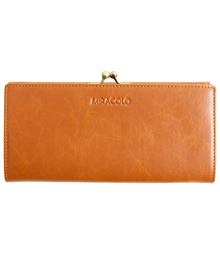 first rate 9f1cd b2b98 MIRACOLO 長財布 がま口 レディース 財布 PUレザー がまぐち小銭入れ カード入れ 大容量 大人 ロングウォレット 二つ折り 人気 おしゃれ  全3色