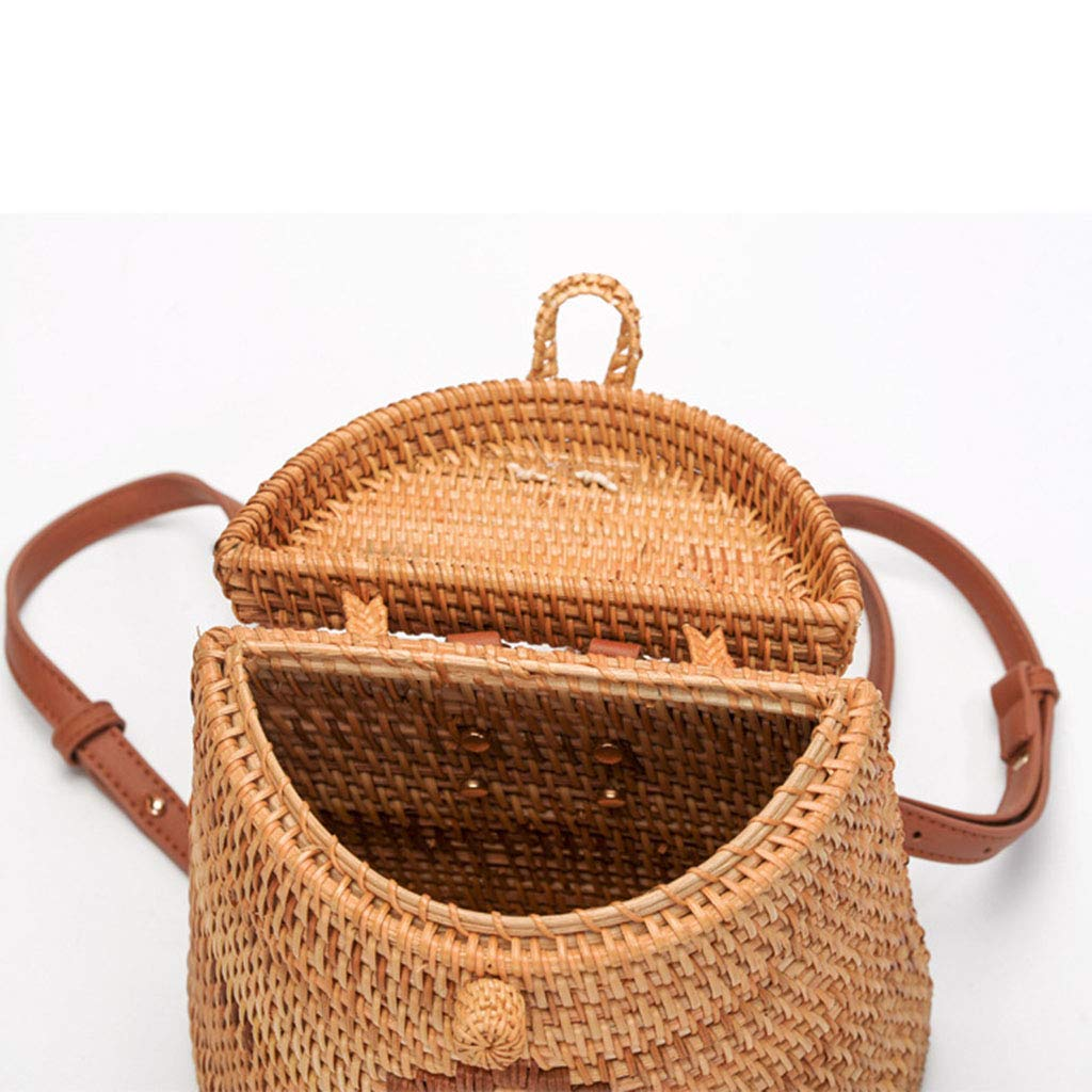 Women's Bag, Fashion Bag - Summer Women's Bag - Hand-Woven Rattan Bag - Crossbody Beach Bag by BHM (Image #4)