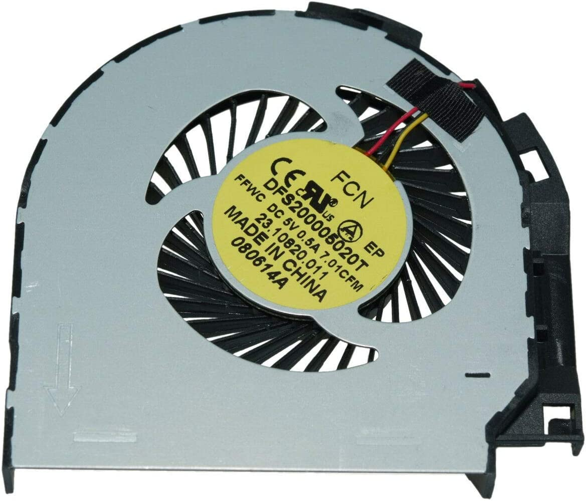 CAQL New CPU Cooling Fan for Dell Inspiron 17 7000 7737 7746 17-7737 17R (7737), P/N: 0NHP25 CN77304 DFS200005020T FFWC, DC5V 0.5A, 3-Pin