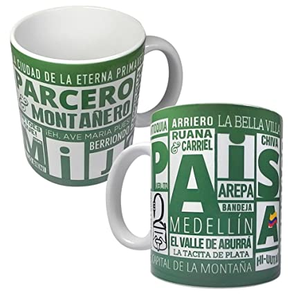 Gio Gifts Medellin PAISA Mug Collectible Ceramic Souvenir