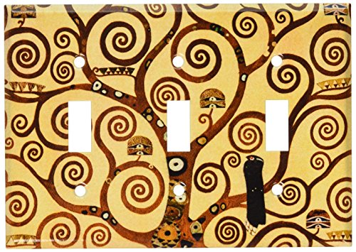 (Art Plates - Klimt: The Tree of Life Switch Plate - Triple Toggle )
