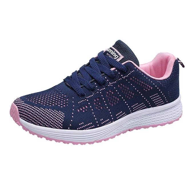 ZARLLE Zapatillas de Deportivos de Running para Mujer Gimnasia Ligero Sneakers Negro Blanco Gris Azul Oscuro 36-40: Amazon.es: Ropa y accesorios