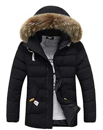 Amazon Com Foursteeds Womens Faux Fur Hooded Warm Winter Outwear Parka Downs Puffer Coat Clothing