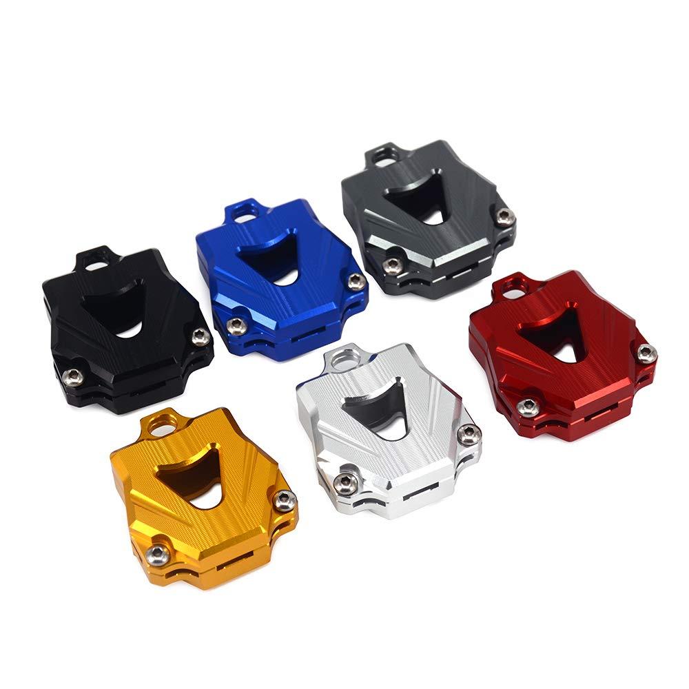 Plata JFG RACING CNC Tapas para Llaves de Yamaha de Aluminio para Motocicleta YZF R1 R3 R6 FZ1 FZ4 FZ6 FZ8 XJ6 XJR MT03 MT07 MT09