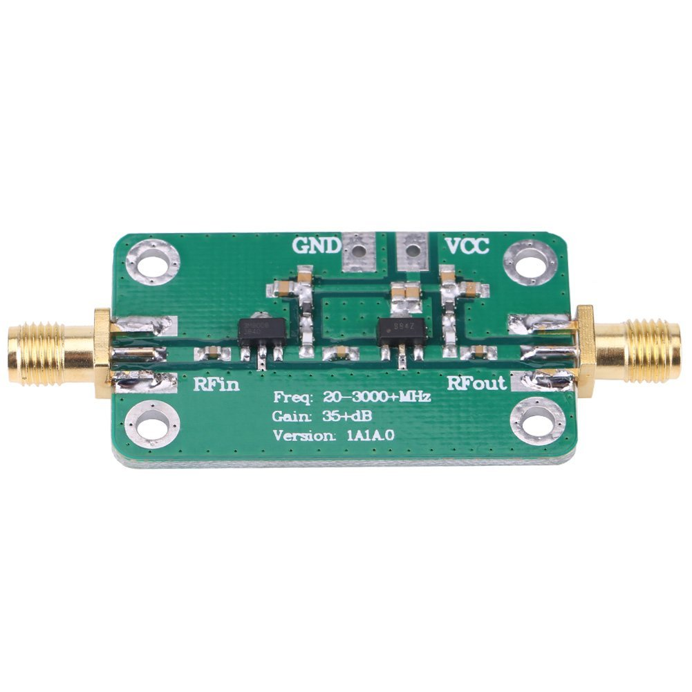 Akozon RF Amplifier, 20-3000MHz Wideband RF Low Noise Amplifier Radio Frequency LNA Gain 35dB