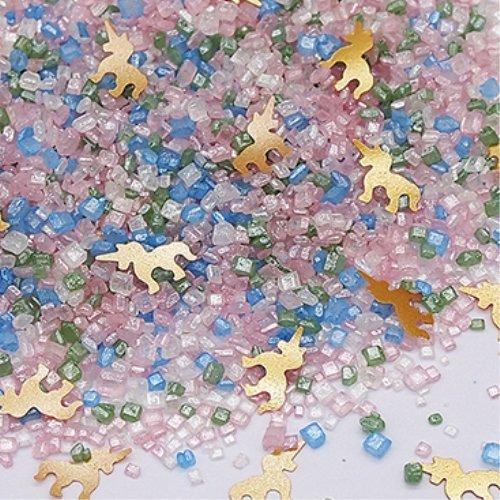 Unicorn Glitter Sugar CrystalsGluten GMO Nut Dairy Soy Free Cake Decoration (70g/2.47oz)