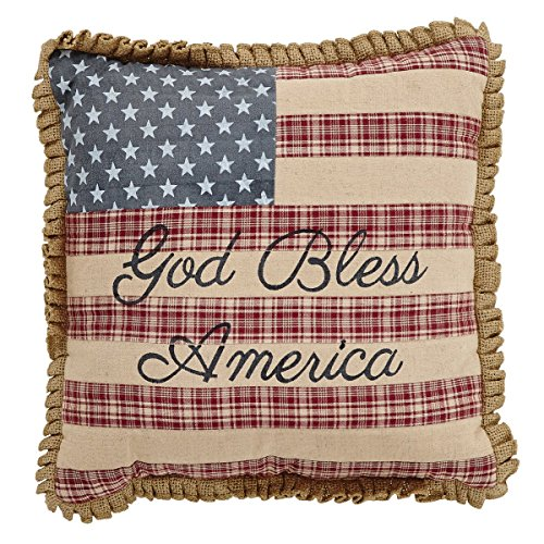 g Pillow w/God Bless America 12x12 ()