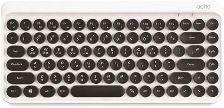 ACTTO BTK-01 Retro Classic - Mini teclado inalámbrico ...