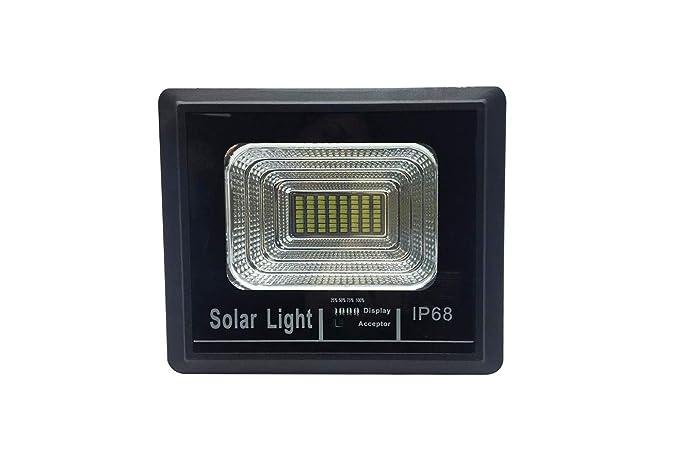 Faro led smd w watt con indicatore di carica pannello solare