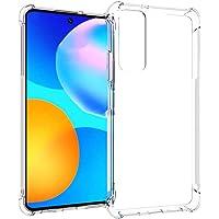 PNQK Case for Huawei Y7A Funda TPU Suave Transparente Cover con Cuatro Esquinas Espesamiento