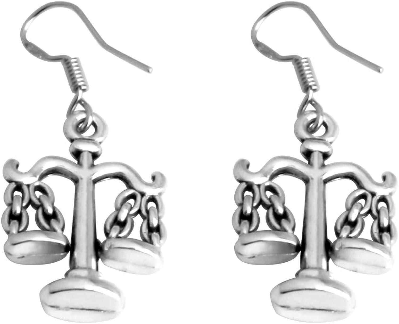 AKTAP Attorney Lawyer Earrings Gift Scales of Justice Earrings Libra Earrings JewelryLaw School Graduation Gifts