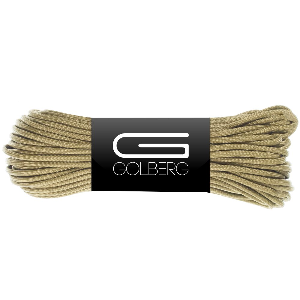 Golberg 850 Paracord - Stronger Than 550 and 750 - Made in The USA by Certified Government Contractors - (100 Feet, Coyote Brown in Hank)
