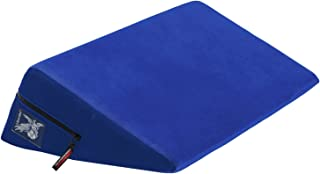 product image for Liberator Wedge Intimate Sex Positioning Pillow, Blue Microfiber, 24 inch.