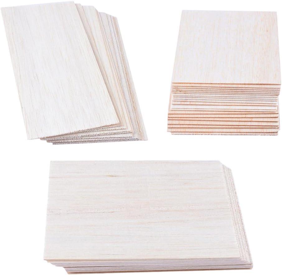 10er 200mm/×100mmx1.5mm F Fityle 10 St/ück Naturholz Rechteck H/ölzerne Plakette DIY Holzplatten Multiplex Bastelholz Holzplatte
