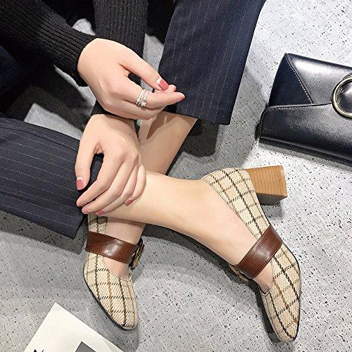 Mary Sueltos Hebilla Primavera Altos CXY de Pulir Abuelita Zapatos Zapatos Palabra Tacones de de Jane Bajos con con Mujer 37 Zapatos 5qqXS