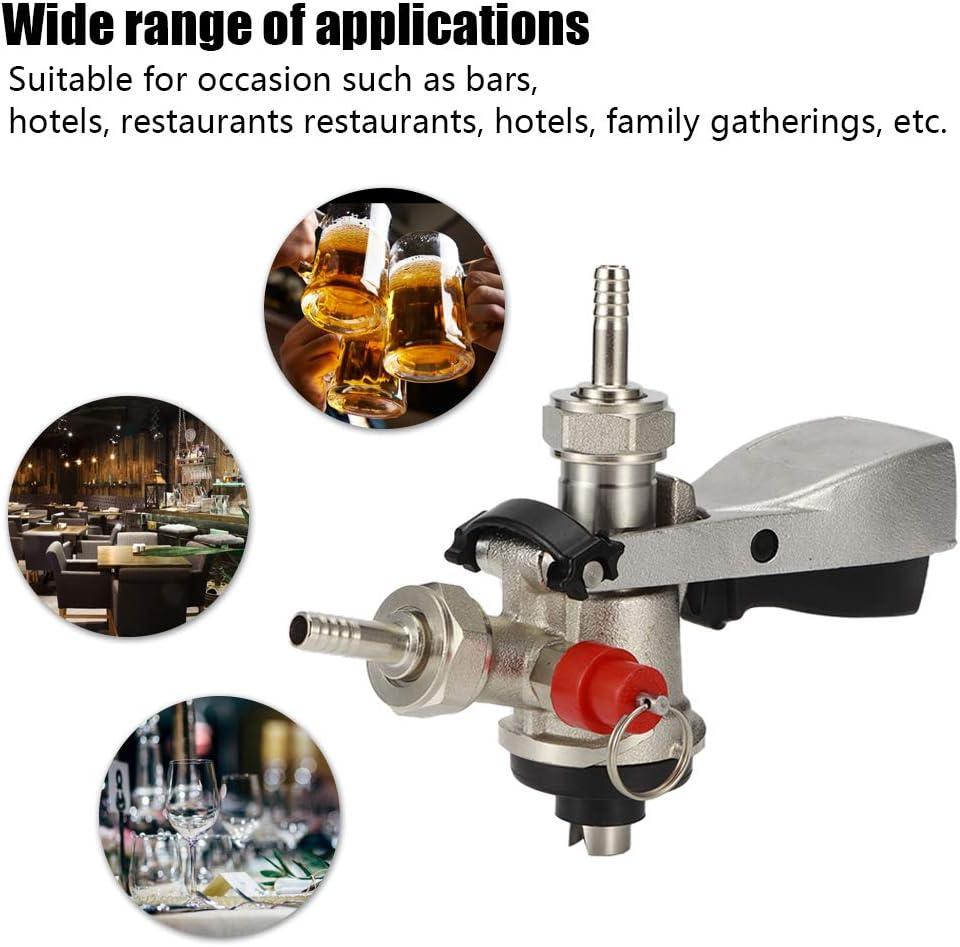 8-mm-Einlassanschluss f/ür das Home Brewing System Restaurant Bar Bierkupplung Bierspenderkupplung vom Typ S