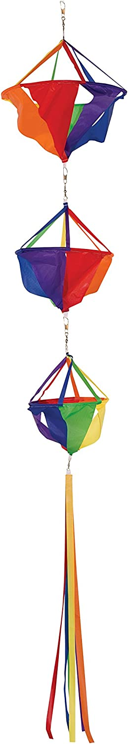 Windsocks In The Breeze 58-Inch Large Rainbow Spinset Patio, Lawn ...