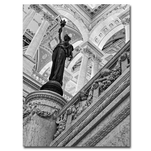 Library of Congress- Great Hall by Gregory O'Hanlon, 18x24-Inch Canvas Wall Art ()