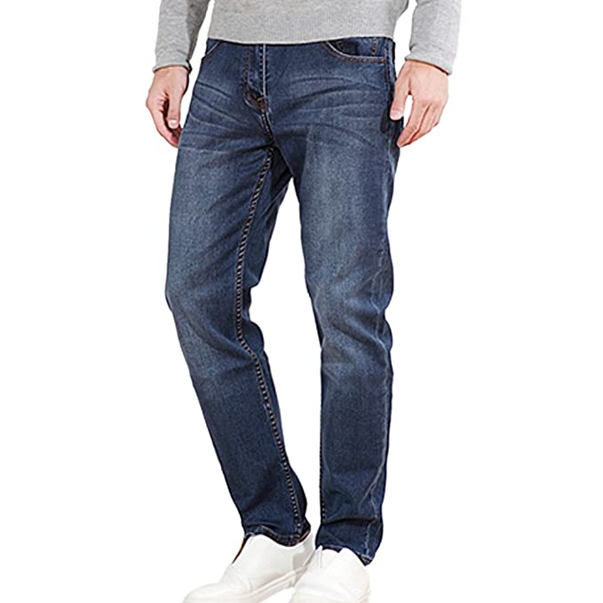 OCHENTA Hombre Jeans Bolsillos Pantalones Deportivos: Amazon ...