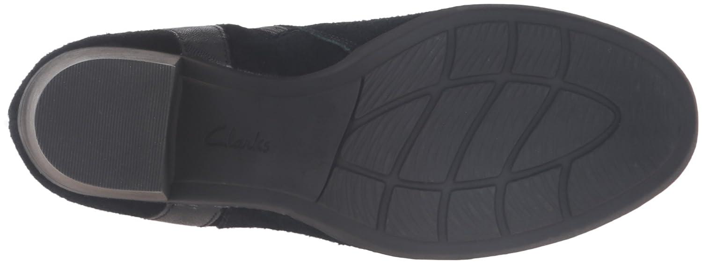 CLARKS Women's Enfield River Boot B0198WIIZ4 9 W US|Black Suede