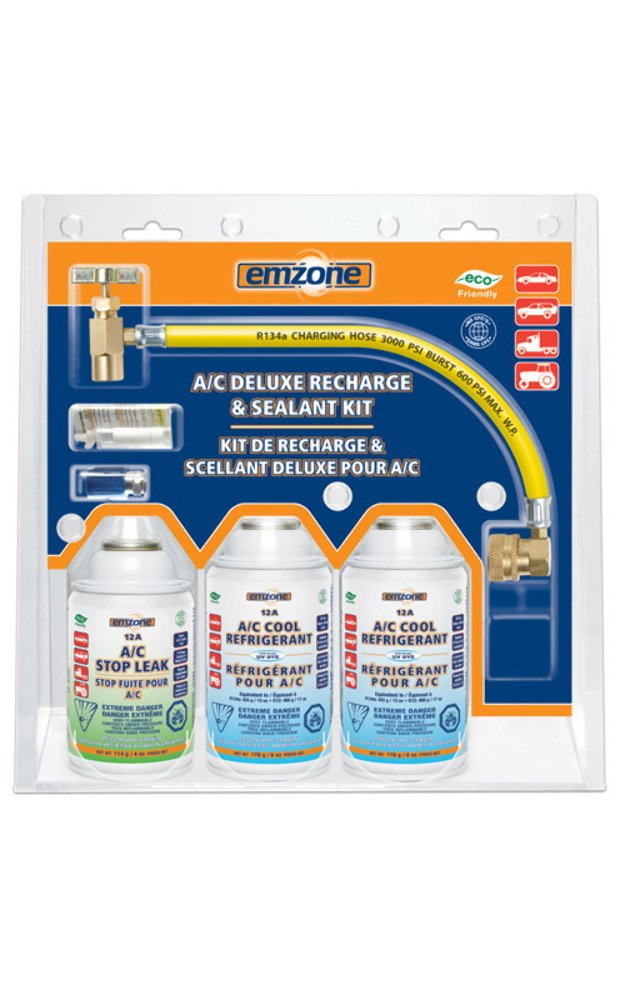 12A A/C Deluxe Recharge & Sealant Kit - emzone 45883