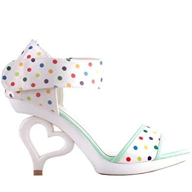 d481a74a3 Show Story White Removable Flower Ankle Strap Bride Wedding Sandals Shoes ,SM33101WT35,2.5UK