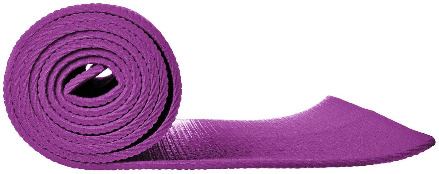 AmazonBasics - Alfombrilla para yoga y ejercicios, con correa de transporte, 0,63 cm