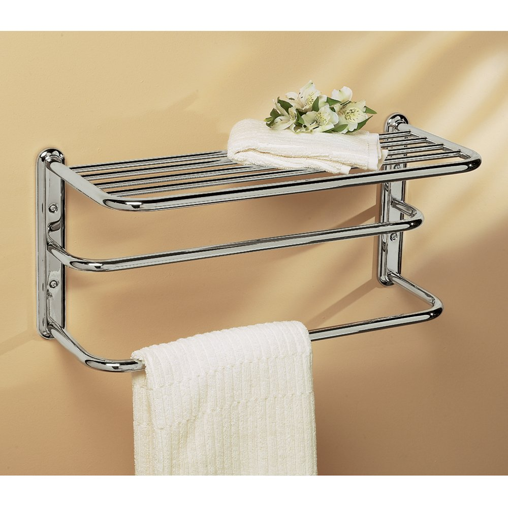 double towel rack for bathroom. gatco 1541 double towel rack with chrome finish - mounted bathroom shelves amazon.com for