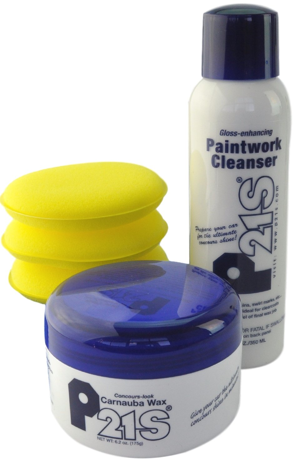 P21S Concours Carnauba Wax, Gloss Enhancing Paintwork Cleanser, and Applicator Package by P21S (Image #1)