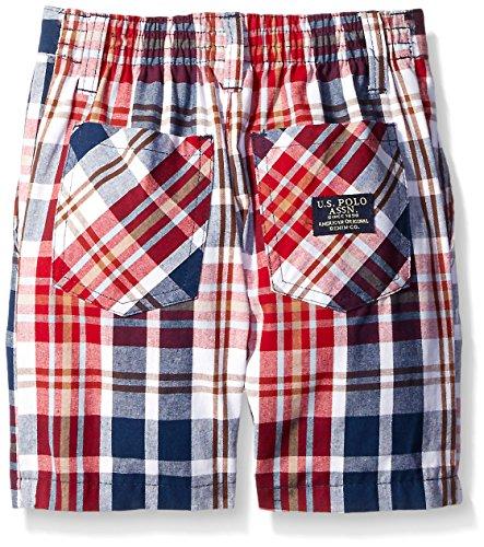 Polo Assn Little Boys Embellished Pique Shirt and Plaid Short U.S