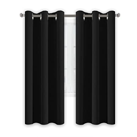 HVersailtex Thermal Insulated Eyelet Blackout Curtains Bedroom Solid Supersoft With Two