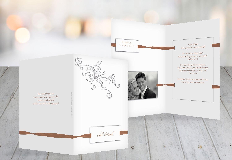 Kartenparadies Danksagung für Hochzeitsgeschenke Hochzeit Dankeskarte loop label, hochwertige Danksagungskarte Hochzeitsglückwünsche inklusive Umschläge   10 Karten - (Format  105x148 mm) Farbe  DunkelGelb B01N7UR97A | Spielen Sie auf