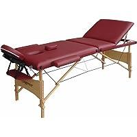 Table de Massage Pro Luxe, pliante Confort, rouge