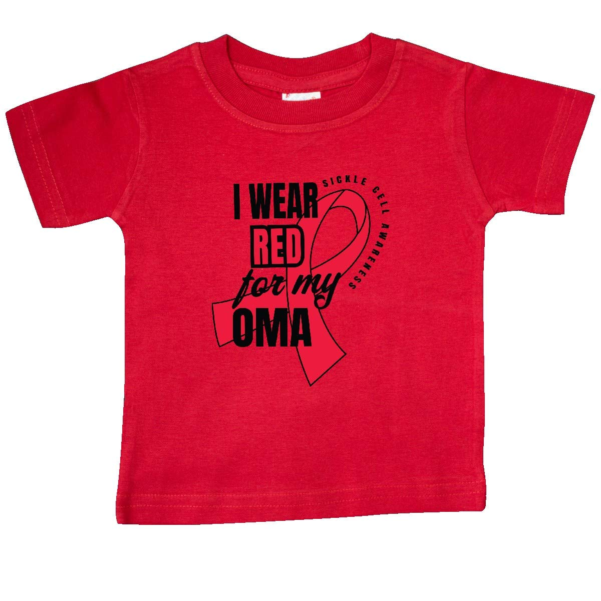 inktastic Sickle Cell Awareness I Wear Red for My Oma Baby T-Shirt