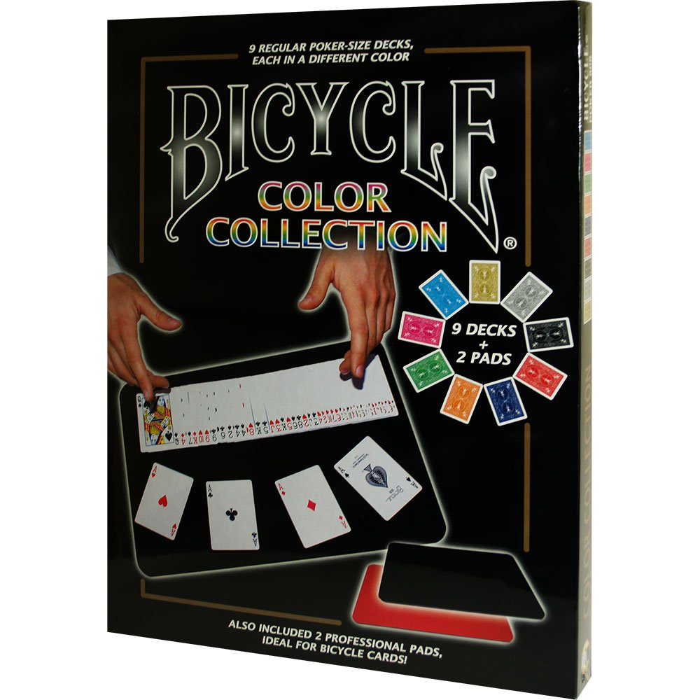 Bicycle Colore Collection (9 Decks, 2 Close Up Pads) - Tricks