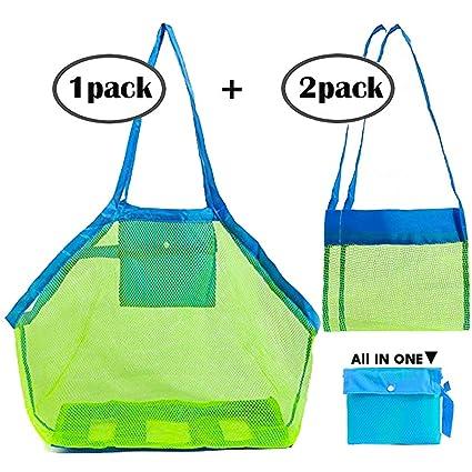 97cec11284c Sgift Mesh Beach Bag for Toys,1pack Large Mesh Beach Tote Holding  Children's Toys+