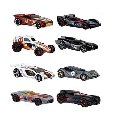 Hot Wheels Star Wars 2015 Exclusive Bundle of 8 Die-Cast Vehicles, 1:64 Scale: Toys & Games