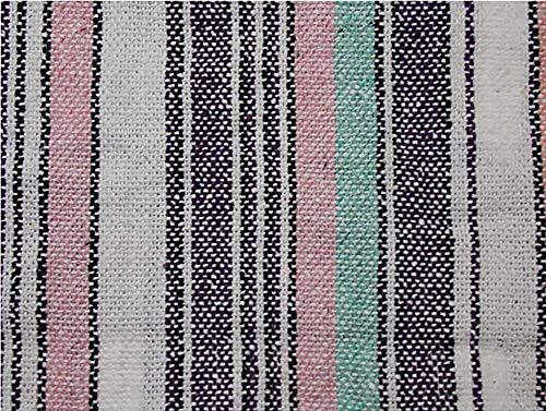 (Iguana Jack Unisex Jerga/Baja/Mexican Blanket Woven Hoodie Hooded Poncho Jacket (X-Large, Pink Stripe))