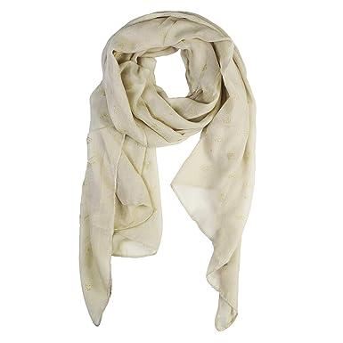 Glamexx24 Écharpe foulard foulard paillettes tube métallique écharpe motif  fleurs hertz étole printemps été année fe70027c08e