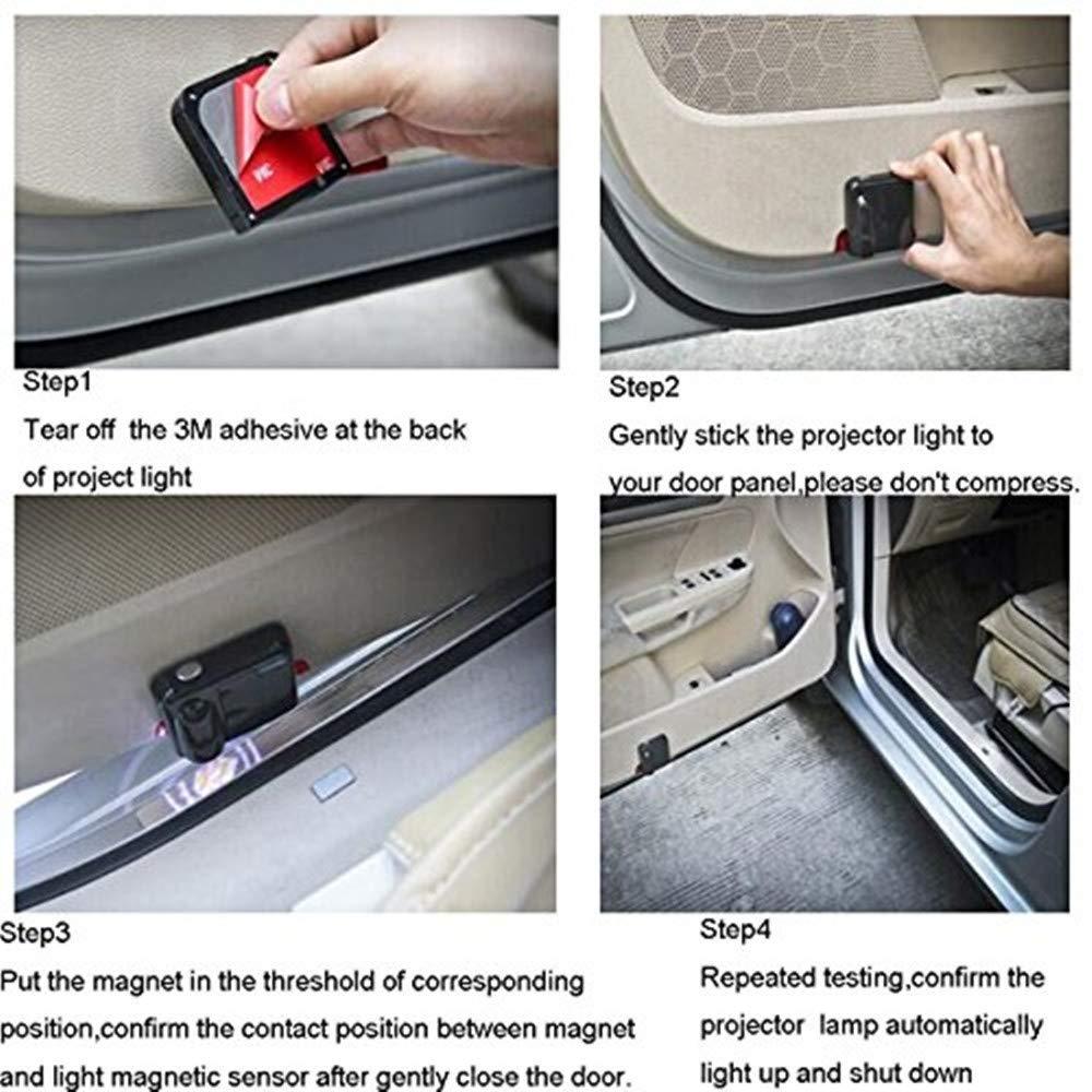 Aveo,Sail,Captiva,Camaro,Volt,etc. Wireless Car Door Led Welcome Laser Projector,No Drill Type Logo Light for Chevrole,Silverado,Corvette,Cruze,Malibu,Epica
