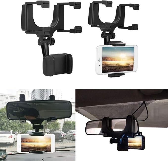Qillu Auto Rückspiegel Telefonhalter Universal Auto Rückspiegel Smartphone Handy Halterung Halter Ständer Für Iphone Samsung Htc Elektronik