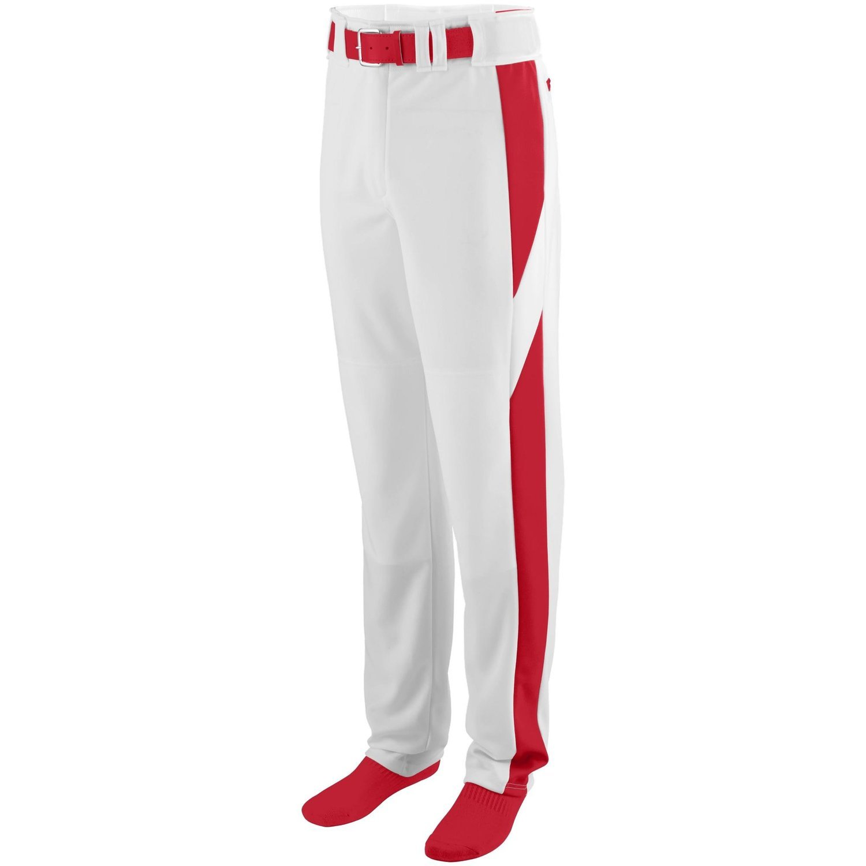 Augusta Sportswearメンズシリーズカラーブロック野球パンツ B00P545934 Large|ホワイト/レッド ホワイト/レッド Large