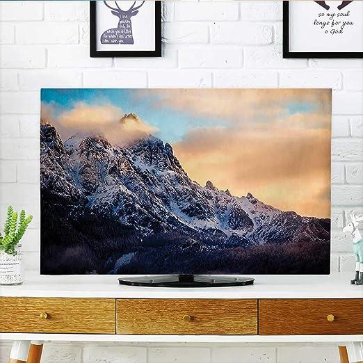 Protege tu televisor de hasta 32 Pulgadas con la impresión de Rock and Bright Sky Dream Life, Color Azul, Verde, Protege tu televisor de 19 x 30 Pulgadas: Amazon.es: Hogar