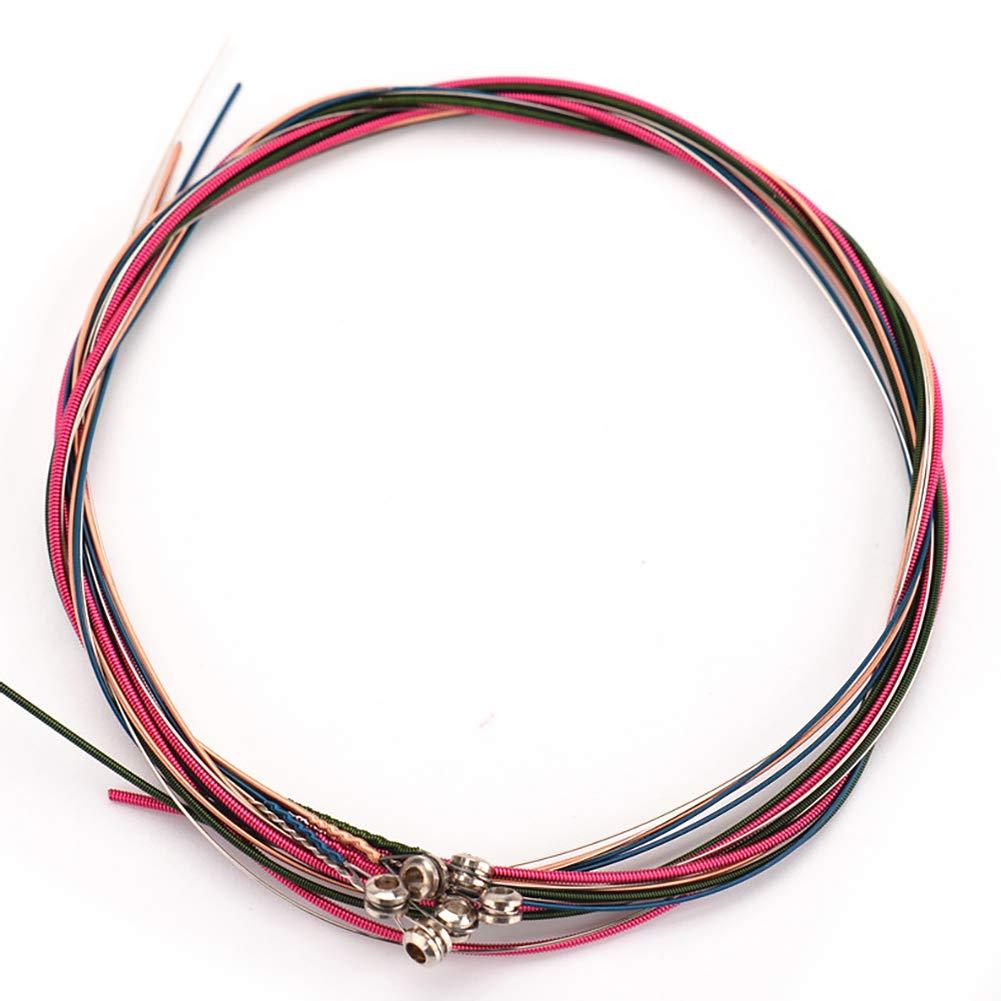 6PCS / Set corde della chitarra acustica stringhe colorate rame rosso stringhe Principiante ad Pro Livello Ouken