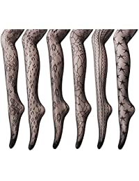 Women's Fishnet Stockings Tights - 3 to 6 Pairs Sexy Fishnets Pantyhose for Party