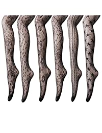 Women's Fishnet Stocking Tights - 3 to 6 Pairs Sexy Fishnet Pantyhose for Party