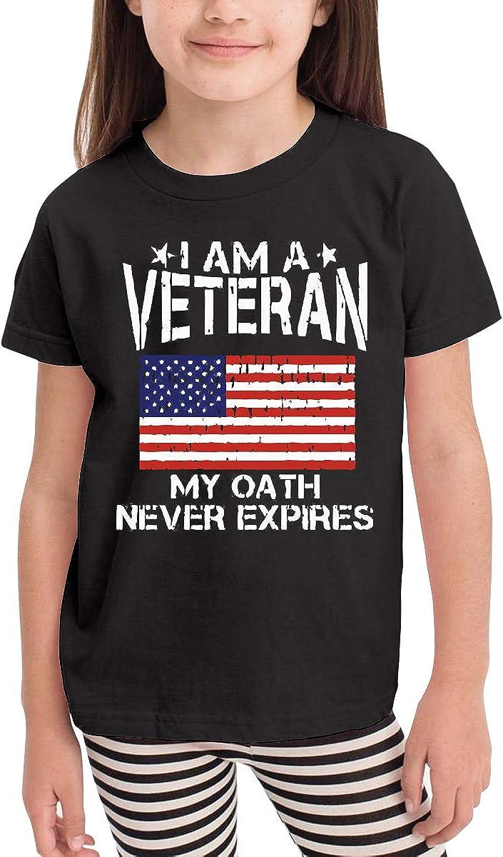 CERTONGCXTS Baby Girls Little Boys My Oath Never Expires American Flag Cute Short Sleeve Tee Shirt Size 2-6
