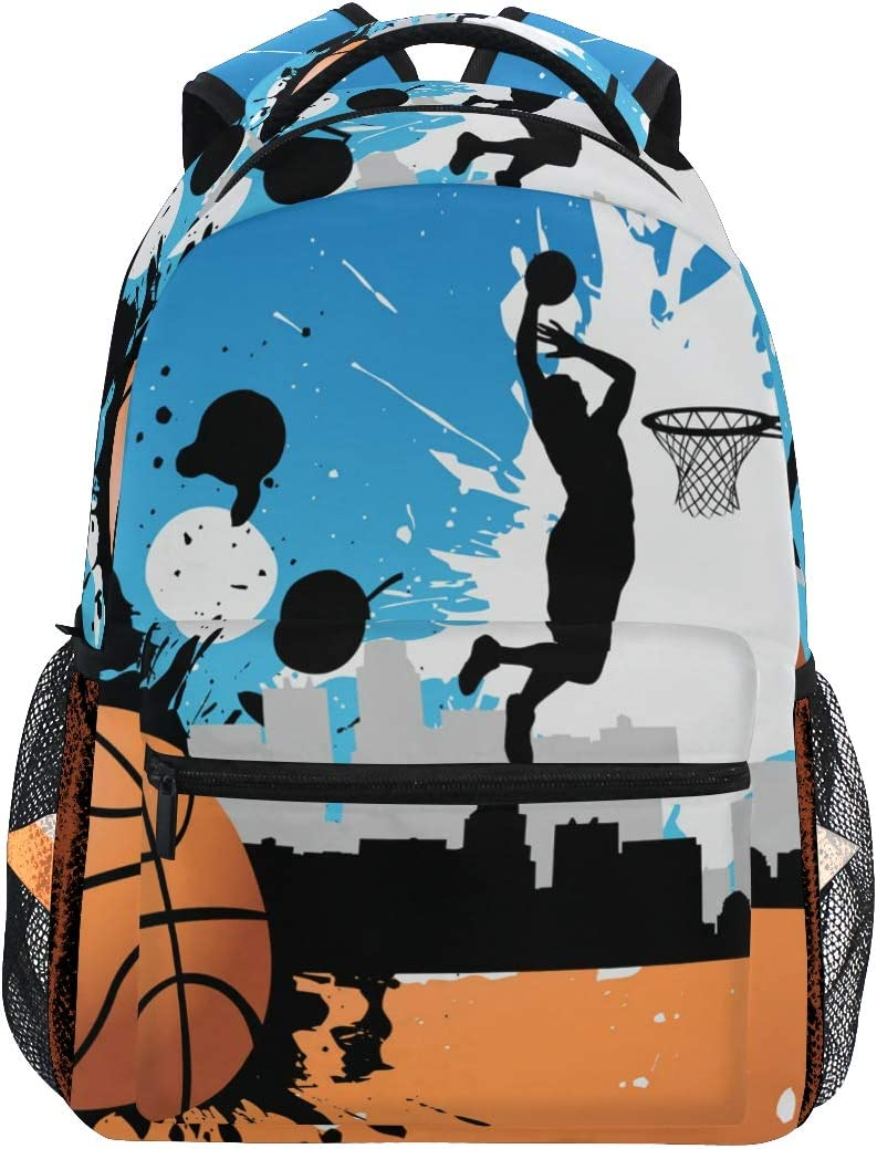 Jugador de Baloncesto Mochila Escolar para niños niñas niños Bolsa ...